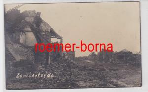 85539 Foto Ak Lombartzyde Westflandern Lombardsijde zerstörte Häuser um 1914