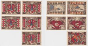5 Banknoten Notgeld Skatgeld Stadt Altenburg 1921 (129187)