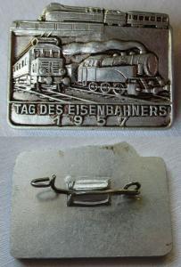 DDR Abzeichen Tag des deutschen Eisenbahners 1957 (107537)