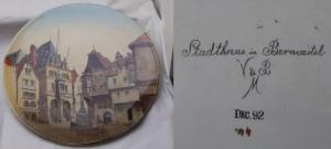 Wandteller Villeroy & Boch Stadthaus Berncastel 1892 (DI9232)