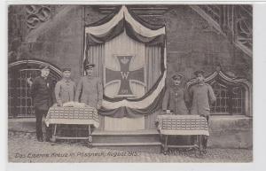 92410 AK Das eiserne Kreuz in Pössneck August 1915 - 5 eiserne Kreuzträger 1916