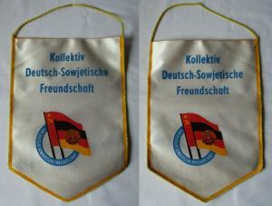 Original alter DDR Wimpel Kollektiv Deutsch-Sowjetische Freundschaft (104043)