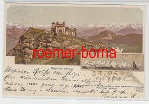73936 Ak Lithographie Rigi-Kulm 1800 ü.M. Schweiz 1909