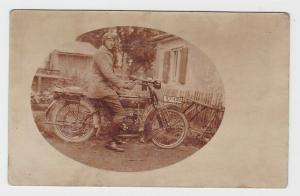 48659 Foto AK Motorrad NSU 251 R mit Fahrer um 1930