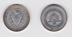 DDR Gedenk Münze 20 Mark Berlin Stadtsiegel 1987 (120136)