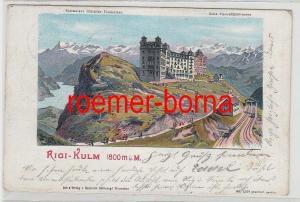 73939 Ak Lithographie Rigi-Kulm 1800 ü.M. Schweiz 1903