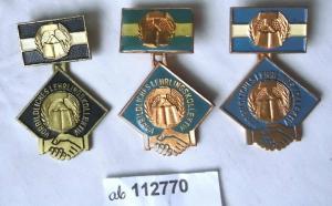 3 verschiedene DDR Abzeichen vorbildliches Lehrlingskollektiv (112770)