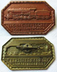 DDR Abzeichen Tag des deutschen Eisenbahners 1956 (109637)