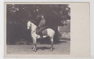 72985 Foto AK Soldat Husar auf weißem Pferd