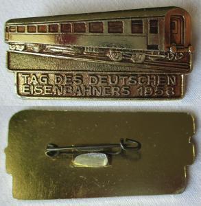 DDR Abzeichen Tag des deutschen Eisenbahners 1958 (107293)