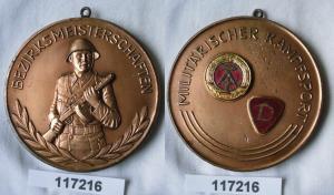 Seltene DDR Medaille Bezirksmeisterschaften Militärischer Kampfsport (117216)