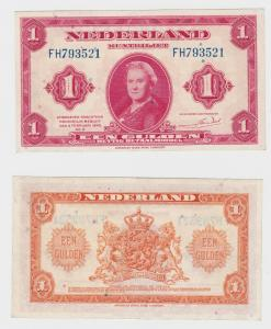 1 Gulden Banknote Niederlande 1943 (126199)
