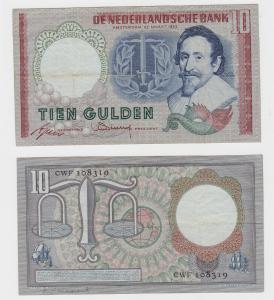 10 Gulden Banknote Niederlande 1943 (122206)