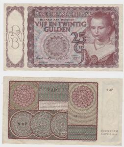 25 Gulden Banknote Niederlande 1944 (122333)