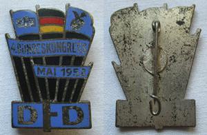 DDR Abzeichen DFD Demokratischer Frauenbund 4. Bundeskongress Mai 1952 (100788)