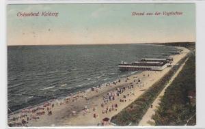 93360 AK Ostseebad Kolberg - Strand aus der Vogelschau 1911