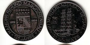 DDR Medaille 30 Jahre VEB Zementanlagenbau Dessau 1984 (110973)
