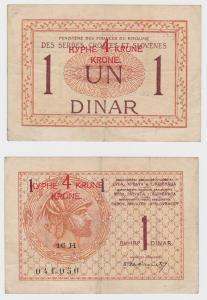 1 Dinar / 4 Kronen Banknote Jugoslawien  (123881)