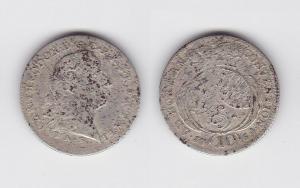 10 Kreuzer Silber Münze Pfalz Kurlinie 1764 A.S. (129715)