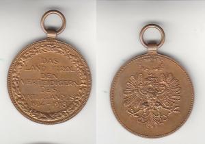 Medaille Das Land Tirol den Verteidigern des Vaterlandes 1914-1918 (111168)