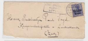 84307 Brief Belgien deutsche Besatzung Kriegswirtschaftsstelle Landratsamt Zeitz