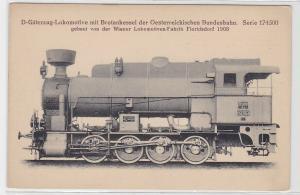89426 AK Güterzug-Lokomotive mit Brotankessel der österr. Bundesbahn 1908