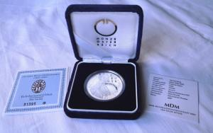 100 Silber Münze Österreich 150 Jahre Wiener Philharmoniker 1992 im Etui(118587)