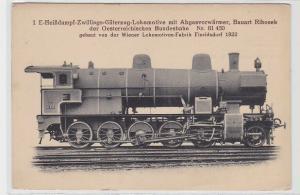83912 AK Güterzug-Lokomotive mit Abgasvorwärmer Bauart Rihosek öster. Bundesbahn