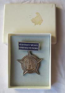 DDR Abzeichen Firma VEB Kraftwerke Lübbenau - Vetschau im Etui (118457)