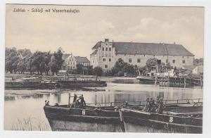 82722 Ak Labiau Polessk Schloß mit Wasserbauhafen um 1910