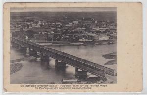 79765 Feldpost AK Warschau - Alexanderbrücke vor östlichem Kriegsschauplatz 1916
