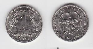 1 Mark Nickel Münze III.Reich 1934 A Jäger Nr. 354 (126672)