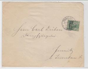 70198 Brief Deutsche Post in Marokko Tanger 5 Centimos 1905