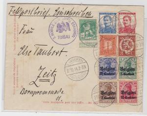 83862 Feldpost Einschreibebrief 3. Landsturm Eskadron Torgau Belgien Tongeren