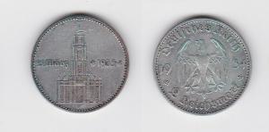 2 Mark Silber Münze 3. Reich Garnisonkirche mit Datum 1934 A Jäger 355 (123142)