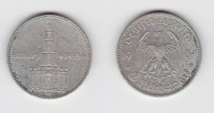 2 Mark Silber Münze 3. Reich Garnisonkirche mit Datum 1934 A Jäger 355 (126508)