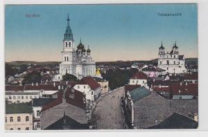 38107 Feldpost AK Grodno - Totalansicht mit Kathedralen 1916