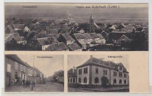 68201 Mehrbild Ak Gruß aus Rohrbach (Lothringen) Hauptstraße usw. 1912