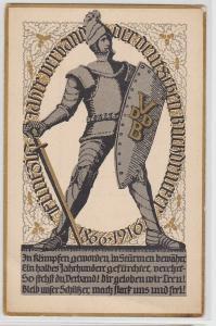 80086 Jubiläums AK 50jähriges Bestehen des Verbandes der dt. Buchdrucker 1916