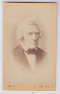 70024 Kabinettfoto Geheimrat Drobisch Ehrenbürger von Leipzig um 1890
