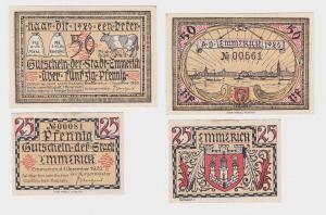 25 & 50 Pfennig Banknoten Notgeld Stadt Emmerich 1.12.1920 (116557)