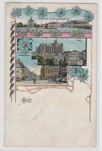 93626 Lithografie AK Metz - Dom, evang. Kirche, Theater- und Kammerplatz 1907