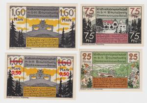 4 Banknoten Notgeld Kraftverkehrsgesellschaft mbH Braunschweig 1921 (114954)