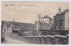 94678 AK Pepinster - L'Hospice et la gare côté de Spa (Hospiz und Bahnhof)