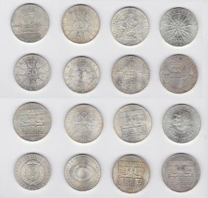 700 Schilling Gedenkmünzen Österreich 5 + 10 Schilling 117,76 g Silber (129580)