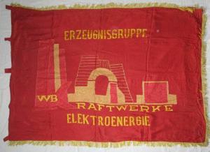 Original DDR Fahne Flagge FDGB Erzeugnisgruppe Kraftwerke Elektroenergie /124106