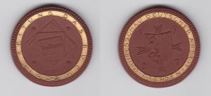 Porzellanmedaille Jahresschau deutscher Arbeit Dresden 1927 Goldrand (129641)
