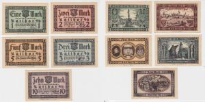 5 Banknoten Notgeld Stadtsparkasse Ratibor Oberschlesien 10.5.1922 (120107)