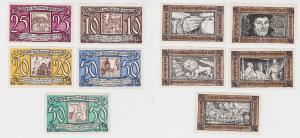 5 Banknoten Notgeld Kreissparkasse Schweinitz Herzberg a.E. 1921 (127337)
