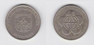 DDR Medaille FDJ Kreisorganisation Hettstedt - Weltfestspiele 1973 (129883)